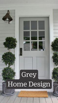 Black House Exterior, Exterior Paint Colors For House, Paint Colors For Home, Exterior Doors, Exterior Remodel, Grey House Exteriors, Diy Exterior House Painting, Exterior Paint Ideas, Outside House Paint Colors
