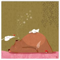 bear and rabbit Children's Book Illustration, Bunny And Bear, Bear Art, Jolies Images, Love Bear, Cute Art, Cute Pictures, Rabbit, Art For Kids