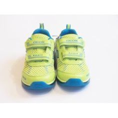 Boys Geox Flashing Trainers  - J Android Lime Flashing Trainer