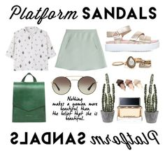 """summer shine ✨🌵"" by s-cab ❤ liked on Polyvore featuring KG Kurt Geiger, Valentino, MANGO, Tammy & Benjamin, Prada, Urban Decay, Givenchy and platforms"