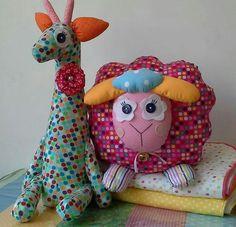 Bichinhos tecido colorido www.ateliecolorir.com.br
