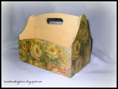 decoupage boxes for desk/bedroom storage