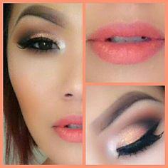 Peach make up