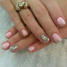 Gel manicure   @Botanic Nails-this would be pretty for a dressy function!!