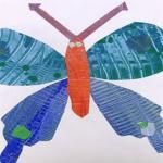 Eric Carle Butterfly - this site had directions for how to make the paper needed for the butterfly and then use it for other projects