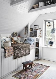 not that I have an attic, but if I did, it would be light and airy and welcoming, just like this...