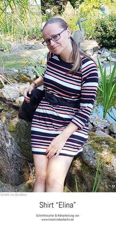 "Shirt ""Elina"" genäht von Bumbees Raglan Shirts, Sewing Dresses For Women, Breien, Kleding"