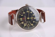 1952 Komandir Molnija Russian Soviet Military Wrist Watch Black AIRForce MO USSR