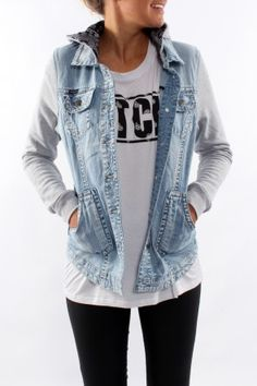 Bandana Hooded Denim Jacket Who doesn't love a denim jacket! This jacket is the perfect length and features a gorgeous print.  SHOP: http://www.jeanjail.com.au/ladies/bandana-hooded-denim-jacket.html