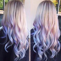Blonde Lavender Hair