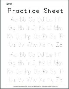 √ 24 Alphabet Writing Practice Worksheets Pdf | Accounting Invoice