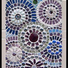 Abstract Circle Series: Purple mosaic from Tiffany Miller Mosaics Mirror Mosaic, Mosaic Wall Art, Mosaic Diy, Mosaic Crafts, Mosaic Projects, Mosaic Tiles, Blue Mosaic, Stone Mosaic, Mosaic Glass