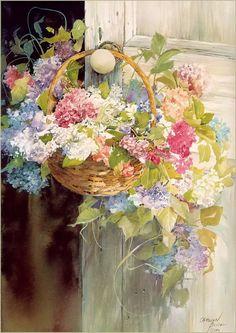 Carolyn Blish..love these tucked around in the summer..on rocker arms...on garden gates..on doorknobs....