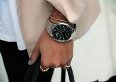 An oversized watch is always a great accessory. http://rstyle.me/~25qE3