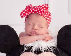 Red polka dot turban headband with or without bow, Minnie Mouse headband - Edit Listing - Etsy