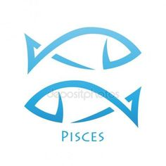 Simplistic Pisces Zodiac Star Sign — Stock Illustration #35467093