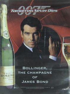 James Bond Bollinger Champagne advertising poster