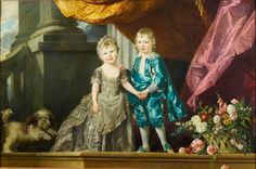 Charlotte, Princess Royal and Prince William, later Duke of Clarence, 2 of the 15 children of George III and Queen Charlotte. c.1770. by Johan Zoffany (Frankfurt 1733/4 - London 1810) (artist)