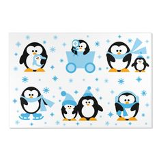PENGUIN AREA RUG Baby Nursery Kids Room Decor Nursery Area Rug, Nursery Room Decor, Penguin Nursery, Baby Girl Purple, Animal Rug, Personalized Baby Blankets, Clear Stickers, Sticker Paper