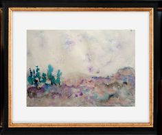 Original painting watercolor painting pink landscape-wallart