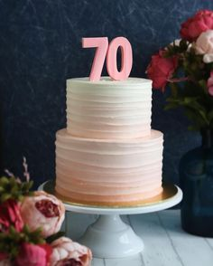 Sometimes less is definitely more! A simple & classy 2-tier pink ombre cake for my lovely client's Mum's 70th birthday celebration! On the side, I have been very lucky to have met many clients who are generous with their compliments and appreciation. This is what keeps me going and drives me to give only my best and nothing less. I thank you all from the bottom of my heart for the trust that you have given me to do what I really love. . . . #vscocam #ediblesbakeshop #buttercream #foodwi...