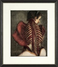 A personal favorite from my Etsy shop https://www.etsy.com/listing/231090613/skeleton-painting-female-anatomical