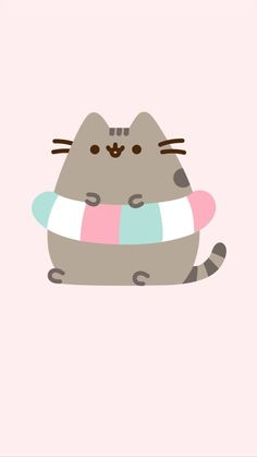 Cute Emoji Wallpaper, Cat Wallpaper, Cute Cartoon Drawings, Kawaii Drawings, Kawaii Cat, Kawaii Anime Girl, Pushing Cat, Pusheen Love, Cute Potato