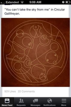 """You can't take the sky from me"" in Gallifreyan."