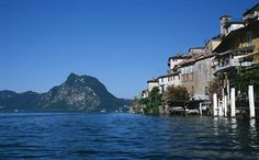 Gandria - at the foot of Monte Bre (Lugano) Franklin College, Heaven On Earth, Switzerland, Tourism, Mansions, House Styles, City, Places, Water