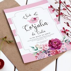 convite digital chá de cozinha / panela
