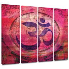 'Om Mandala' by Elena Ray 4 Piece Graphic Art Gallery-Wrapped on Canvas Set