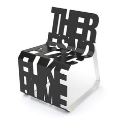 The theres no place like home chair celebrates typography in a functional way.lt/HUShZy to get to know the clever Canadians behind Palette Industries. Funky Furniture, Unique Furniture, Furniture Design, Muebles Art Deco, Take A Seat, Cool Chairs, Contemporary Interior, Chair Design, Industrial Design