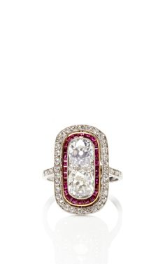 Vintage Art Deco Ruby And Diamond Ring by FD Gallery for Preorder on Moda Operandi