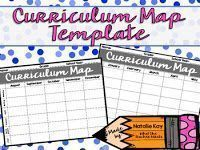 A FREE curriculum map template! Use it to help you map out your whole year!