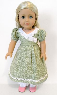 "Regency Dress w/ Pantalets ORIGINAL by Dollhouse Designs for 18"" American Girl Dolls like Caroline"
