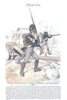 Vol 02 - Pl 33 - Bayern. Königl. Bayerisches 3. Leichtes Bataillon von Bernclau. 1812.