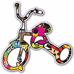 TRICYCLE SB2 Sticker Bomb Decal Car Macbook Laptop JDM Window Bumper Skateboard #UnbrandedGeneric