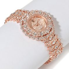 Victoria Wieck Crystal Marquise and Round Watch