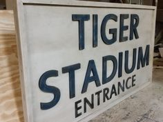 Detroit Tigers Stadium Sign - Todd Lindsay Designs