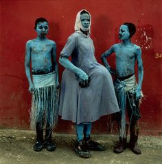Blue Boys, Jacmel, 2013- Image courtesy of Phyllis Galembo