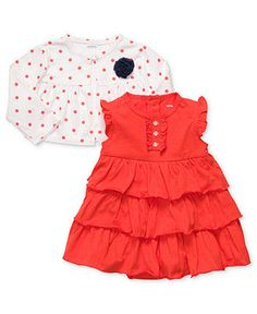 Carter's Baby Set, Baby Girls 2-Piece Set with Dress and Cardigan - Kids Baby Girl (0-24 months) - Macy's