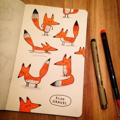 Doodle of the day: meet the #fox ! #sketchbook #illustration