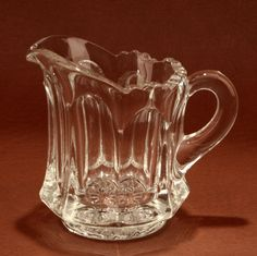 Heisey Colonial Scalloped Individual Creamer 400 Clear Glass Vtg.