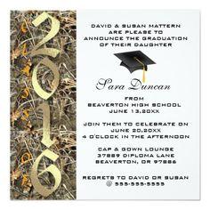 Camo Classic Elegant 2016 Graduation Invitation