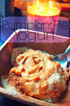 Pre Run Fuel: Pumpkin Pie Yogurt!