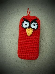 Angry Bird cell phone case by Lizi's Handmade Factory ~ free pattern