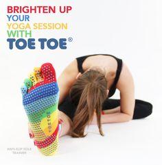 Brighten up your #YOGA session #TOETOESocks #TOETOE