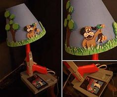 The Duck Hunt lamp makes the ideal appliance for any home arcade room. With an NES video game cartridge base, a zapper gun as the pole and a cool pixelated Duck Hunt lampshade, this custom lamp adds a stylish and nostalgic touch to any room in the home. Arcade Room, Nerd Decor, Nerd Room, Guest Room Decor, Game Room Design, Room Themes, My New Room, Kids Room, Projects To Try