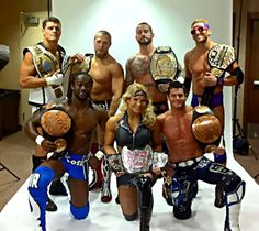 WWE - best group of title holders, Beth Phoenix, Kofi Kingston and Evan Bourne (air boom), Daniel Bryan, Cody Rhodes, CM Punk, and Zack Ryder