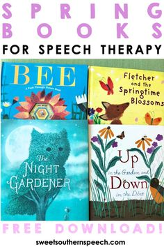 8 Spring Books For Speech Therapy - Sweet Southern Speech Preschool Speech Therapy, Preschool Songs, Speech Language Pathology, Speech And Language, Articulation Activities, Speech Therapy Activities, Shape Activities, Language Activities, Thanksgiving Books
